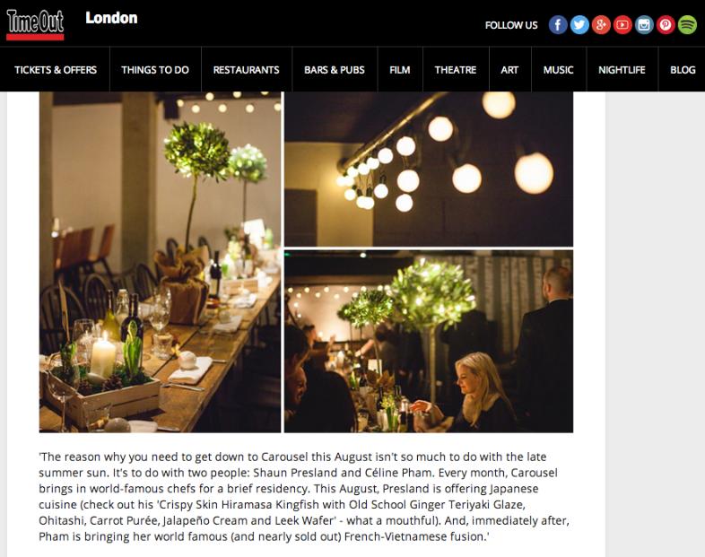 Carousel – London – Août 2015